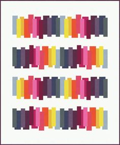 """~free pattern~ """"Mind the Gap"""" strip quilt for Bella Solids at Moda Fabrics 