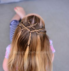 "617 Likes, 16 Comments - Tiffany ❤️ Hair For Toddlers (@easytoddlerhairstyles) on Instagram: ""Braided tie back. This style takes about 15 minutes because of all the braiding. You could simplify…"""
