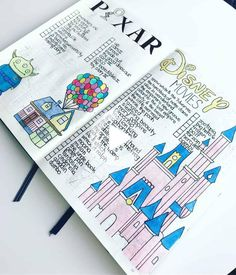 37 amazing disney inspired bullet journal spreads that will inspire your inner creative and inner child. Get disney inspired and creative with these spreads #bulletjournal #dailyplan