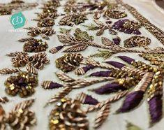 Zardosi Embroidery, Embroidery Motifs, Gold Embroidery, Embroidery Fashion, Embroidery Ideas, Wedding Embroidery, Hand Work Embroidery, Creative Embroidery, Hand Work Design