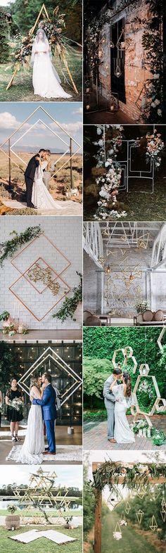 trending geometric wedding backdrop decoration ideas #weddingdecor #weddingbackdrops #weddingceremony #weddingideas