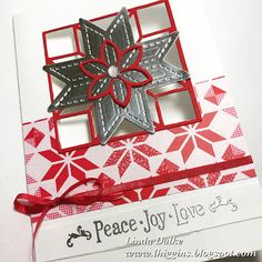 Saying goodbye to the Quilted Christmas suite with this window card