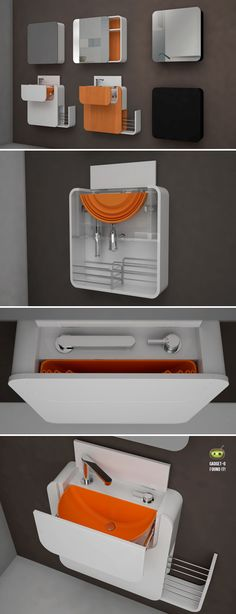 The Pixel series of bathroom furnishings designed by Oriol Barri