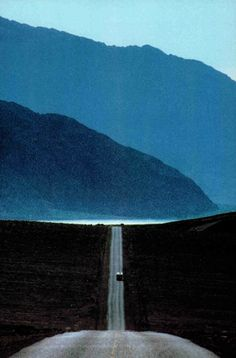 cratered: The lilac-blue air of the desert lingers like a barely remembered dream over Death Valley, National Geographic, January 1987