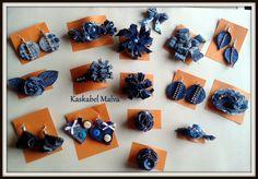 Denim Jewelry collection, handmade by Kaskabel Malva.