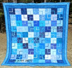 SplittingStitches: this is one of her own quilts she finished
