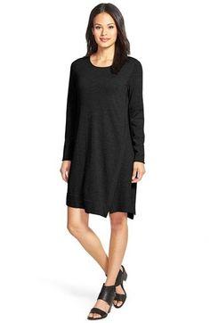 69e3c4b023 Eileen Fisher Merino Wool Jewel Neck Dress (Regular   Petite)