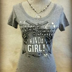 << Pistols and Pearls Kinda Girl Tee >> Pistols and pearls! Who says ypu can't be country AND cute!! This tee is adorable!!  Available in small medium and large   Please do not buy this listing, ask me for your size and I will make you a listing :) Twang Boutique  Tops Tees - Short Sleeve