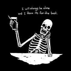 Browse all designs on Beebosloth – available on a range of custom products Skeleton Drawings, Skeleton Art, Art Drawings, Beautiful Dark Art, Skull Wallpaper, Dark Thoughts, Sad Art, Mood Quotes, Smile Quotes