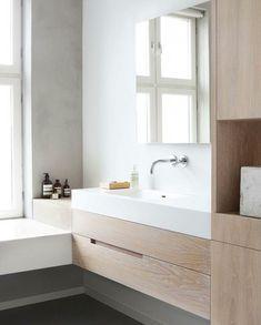 Haptic Architects Oslo Bath, Remodelista. Microcemento? Los tonos que me gustaría aunque con el gris más oscuro