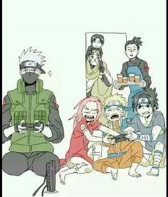 Naruto, Kakashi, Sasuke, Sakura, Iruka, Yamato, Sai, funny; Naruto