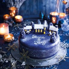 How to decorate a Silent Night Christmas cake