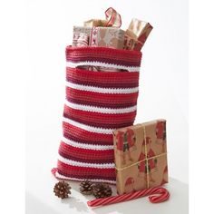 Striped Gift Bag