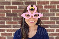 Pink Flamingo Glasses Prop  Beach Party Props  by Perfectionate