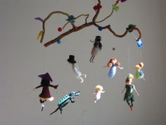 Peter pan and his friends needle felted mobile by Made4uByMagic, $259.00
