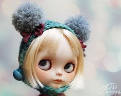 BLACK BUNNY Vintage Ooak Set For BLYTHE By Odd Princess