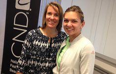 .@Simona_Halep meets one of her idols & former World No.1 @Justine_Henin! #WTA