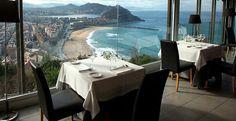 Vista de Donosti desde el Restaurante Mirador de Ulia