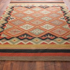 "Moroccan Diamond Dhurrie Rug: 2'6""x8' runner, $149 - also comes in 2x3 and addt'l sizes"
