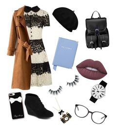 """""""The Parisian bookworm"""" by angei-1 on Polyvore featuring Aspinal of London, RED Valentino, Arizona, Lime Crime, Unicorn Lashes, Rosendahl, Chloé, Betsey Johnson and Casetify"""
