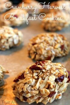 Cranberry Gluten Free Breakfast Cookies