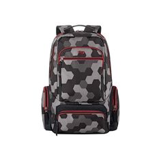 Solo - Active Collection Laptop Backpack - Gray/red
