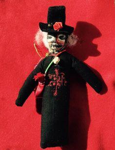 Papa Legba Exu Voodoo Doll Poppet Handmade by HonoringMotherEarth