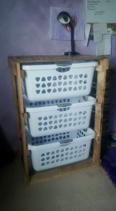 Anyone who is into organization or saving space needs one of these!! These can be made to fit different size baskets as well. Dimensions are approximately 30x42x20 and 30x35x20. **All items are one of