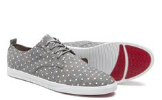 CLAE Ellington grey polkadot Textile Shoe