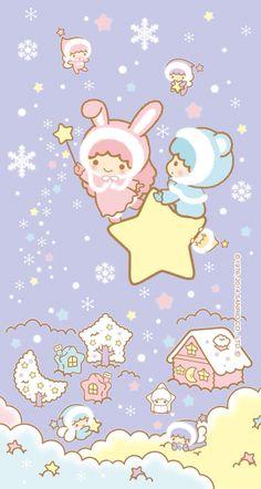 Wall Paper Cute Cartoon Little Twin Stars 38 Ideas My Melody Wallpaper, Sanrio Wallpaper, Star Wallpaper, Hello Kitty Wallpaper, Kawaii Wallpaper, Little Twin Stars, Little Star, Sanrio Danshi, Sanrio Characters