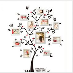 New Chic Black Family Photo Frame Tree Butterfly Flower Heart Wall Sticker Living Room Decor Room Decals-in Wall Stickers from Home & Garden on Aliexpress.com | Alibaba Group