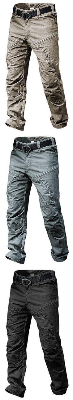 US$54.29 Mens Outdoor Muti-Pockets Pants Water-repellent Tactical Pants Military Training Pants#fashion #pants #legging #art #gift