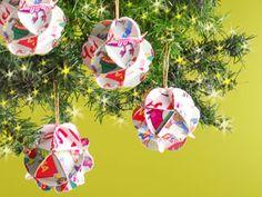 y artesanas esferas navideas