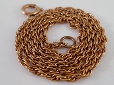 12K GF Rope Chain Necklace 18 Gold Filled by Libbysmomsvintage