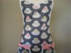 Cupcake Apron by HauteMessThreads on Etsy, $36.00
