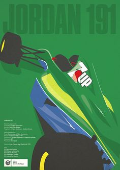 JORDAN 191 - Possibly the most perfectly shaped/liveried F1 car of all time...