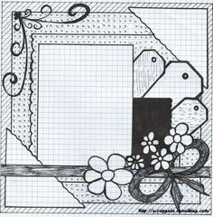 Due Monday, September by ET - Cheap Scrapbook Kits Club - # Scrapbook Layout Sketches, Scrapbook Templates, Scrapbook Designs, Card Sketches, Scrapbook Paper Crafts, Scrapbooking Layouts, Owl Templates, Applique Templates, Applique Patterns