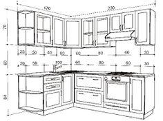 Resultado de imagen para стандартные размеры кухонной мебели
