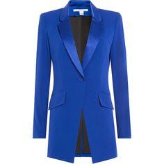 Diane von Furstenberg Crepe Blazer (13.220.410 VND) ❤ liked on Polyvore featuring outerwear, jackets, blazers, giacche, blue, blue jackets, diane von furstenberg blazer, crepe blazer, crepe jacket y diane von furstenberg