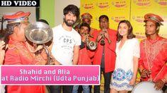 Shahid Kapoor and Alia Bhatt Promote 'Udta Punjab' at Radio Mirchi Studio