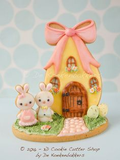 egg house for a bunny cookies