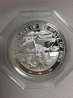 Great Seal of Iowa Terrace Hill 1972 Franklin Mint Silver Commemorative Medal