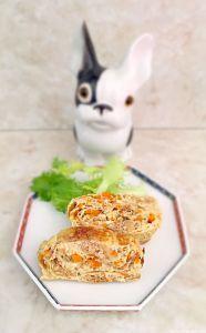omelette au nimono de radis blancs séchés #japon #cuisine #cuisinejaponaise
