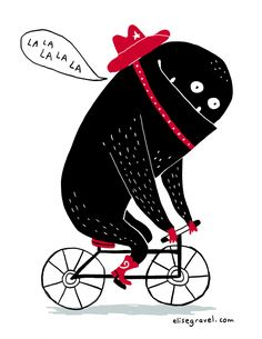 Elise Gravel • Monster on a bike