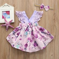 Clothing Sets Baby Mädchen Sommer Kleidung Set Kleid + Schleife Stirnband The Perfect Dress Pattern Girls Summer Outfits, Little Girl Outfits, Little Girl Fashion, Girls Dresses, Baby Girl Dresses Fancy, Summer Girls, Baby Girl Dress Patterns, Baby Clothes Patterns, Baby Kids Clothes