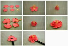 Pencil Holder Gifts (Silhouette cut file by Jamie Cripps)- paper flower tutorial by Jamie Cripps