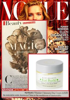 Kat Burki Vitamin C Intensive Face Cream featured in the November 2014 issue of @voguemagazine.