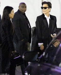 Out with the girls: Kris Jenner's daughters Kourtney Kardashian and Kendall Jenner support...