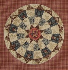 "Georgetown Circle http://passionpatchwork.wordpress.com/ block in ""1865, passion sampler"" quilt"