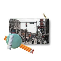 Clutch Bag Zippered Pouch Beale Street Memphis by DesignerDiner  -- Awesome Designs from our members! Join DigiColorCreations.com and produce your design!